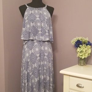 TORRID  Maxi Dress on blue and white
